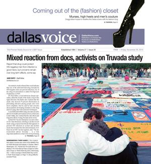 Dallas Voice (Dallas, Tex.), Vol. 27, No. 28, Ed. 1 Friday, November 26, 2010
