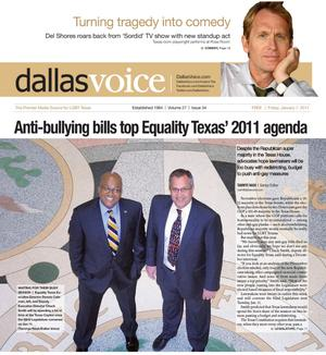 Primary view of object titled 'Dallas Voice (Dallas, Tex.), Vol. 27, No. 34, Ed. 1 Friday, January 7, 2011'.