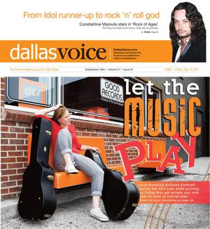 Primary view of object titled 'Dallas Voice (Dallas, Tex.), Vol. 27, No. 52, Ed. 1 Friday, May 13, 2011'.