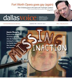 Primary view of object titled 'Dallas Voice (Dallas, Tex.), Vol. 28, No. 1, Ed. 1 Friday, May 20, 2011'.