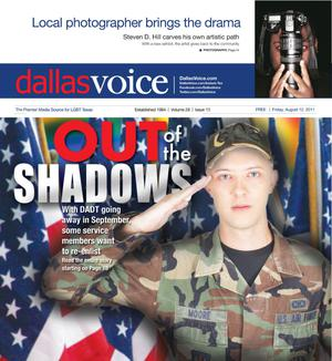 Primary view of object titled 'Dallas Voice (Dallas, Tex.), Vol. 28, No. 13, Ed. 1 Friday, August 12, 2011'.