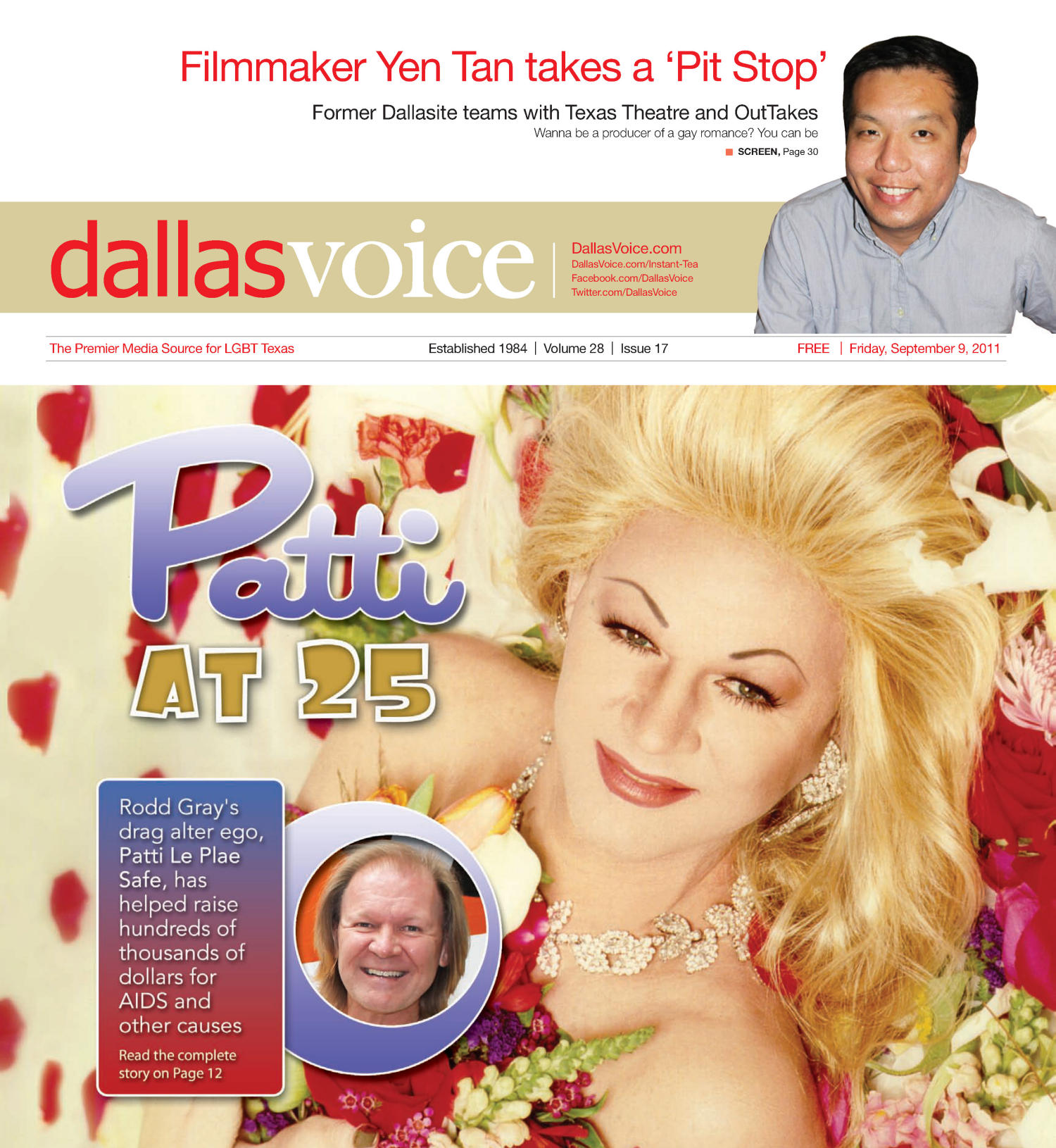 Dallas Voice (Dallas, Tex.), Vol. 28, No. 17, Ed. 1 Friday, September 9, 2011                                                                                                      [Sequence #]: 1 of 48