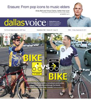 Dallas Voice (Dallas, Tex.), Vol. 28, No. 19, Ed. 1 Friday, September 23, 2011