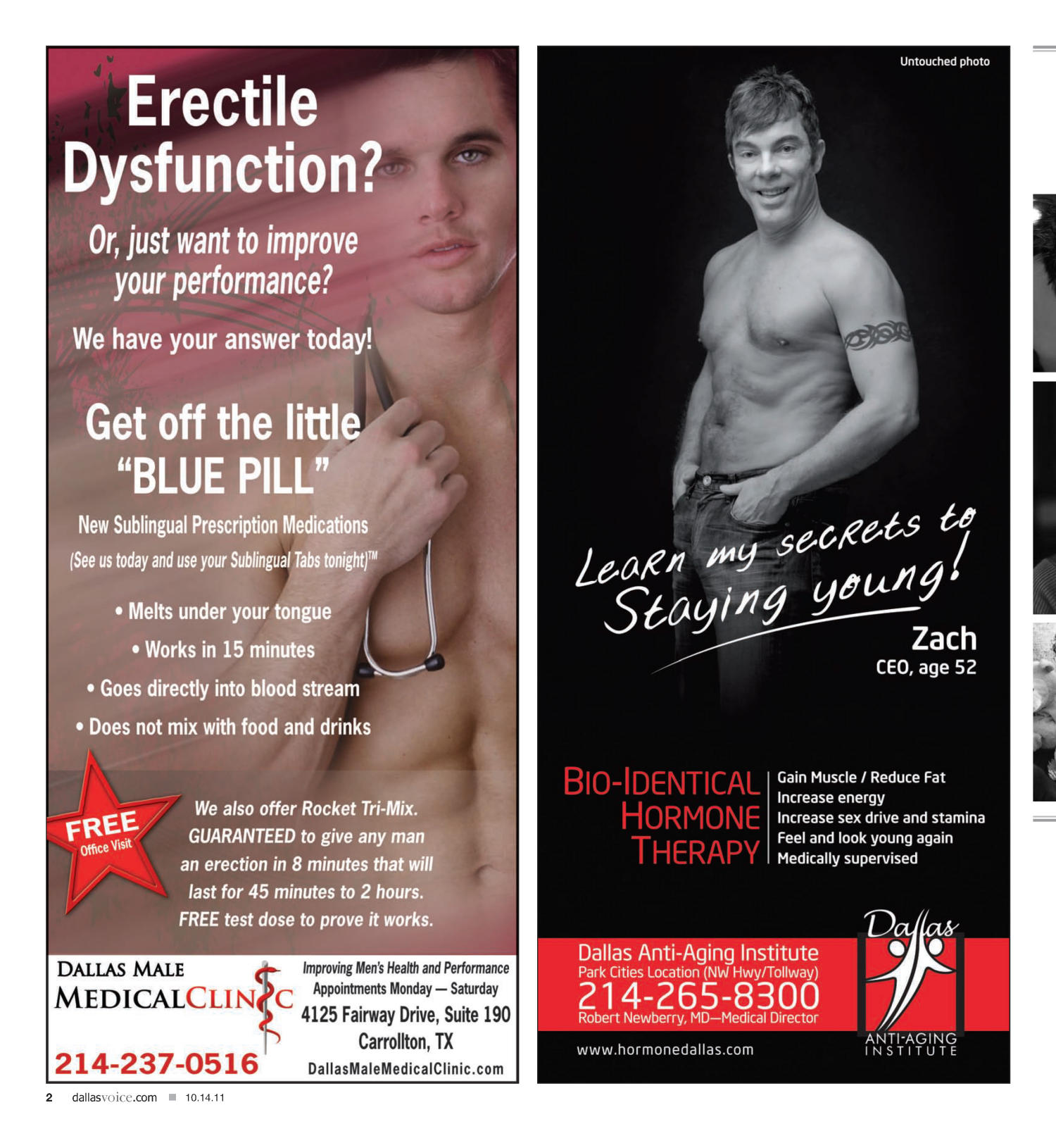Dallas Voice (Dallas, Tex.), Vol. 28, No. 22, Ed. 1 Friday, October 14, 2011                                                                                                      [Sequence #]: 2 of 48