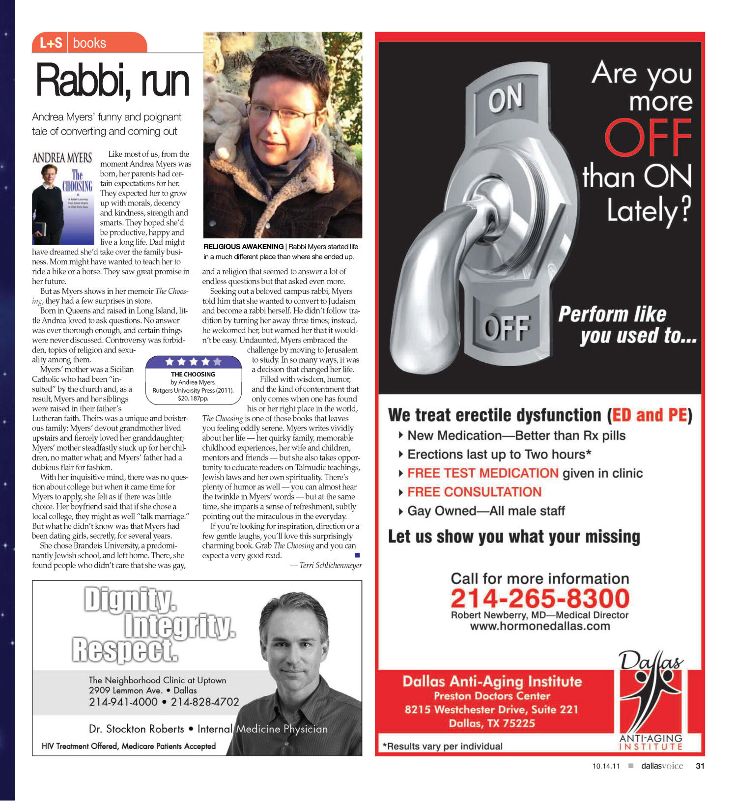 Dallas Voice (Dallas, Tex.), Vol. 28, No. 22, Ed. 1 Friday, October 14, 2011                                                                                                      [Sequence #]: 31 of 48