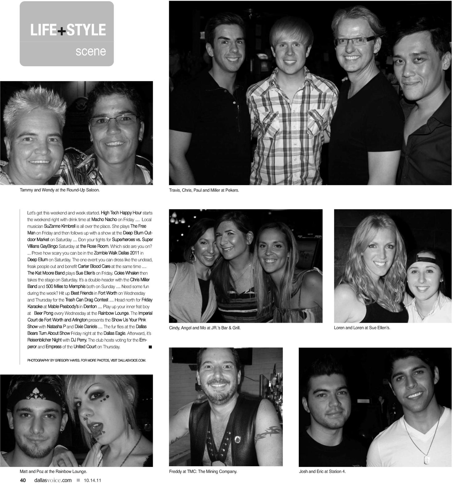 Dallas Voice (Dallas, Tex.), Vol. 28, No. 22, Ed. 1 Friday, October 14, 2011                                                                                                      [Sequence #]: 40 of 48