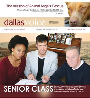 Primary view of object titled 'Dallas Voice (Dallas, Tex.), Vol. 28, No. 31, Ed. 1 Friday, December 16, 2011'.
