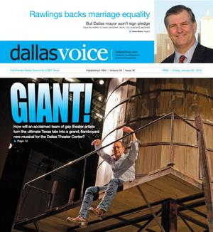 Primary view of object titled 'Dallas Voice (Dallas, Tex.), Vol. 28, No. 36, Ed. 1 Friday, January 20, 2012'.