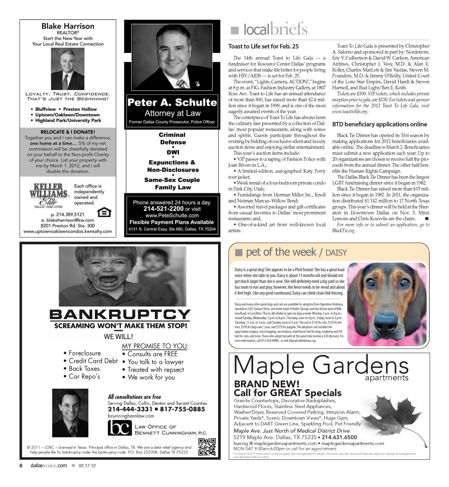 Dallas Voice (Dallas, Tex.), Vol. 28, No. 40, Ed. 1 Friday, February 17, 2012                                                                                                      [Sequence #]: 8 of 56