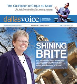 Primary view of object titled 'Dallas Voice (Dallas, Tex.), Vol. 28, No. 42, Ed. 1 Friday, March 2, 2012'.