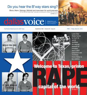Primary view of object titled 'Dallas Voice (Dallas, Tex.), Vol. 28, No. 45, Ed. 1 Friday, March 23, 2012'.