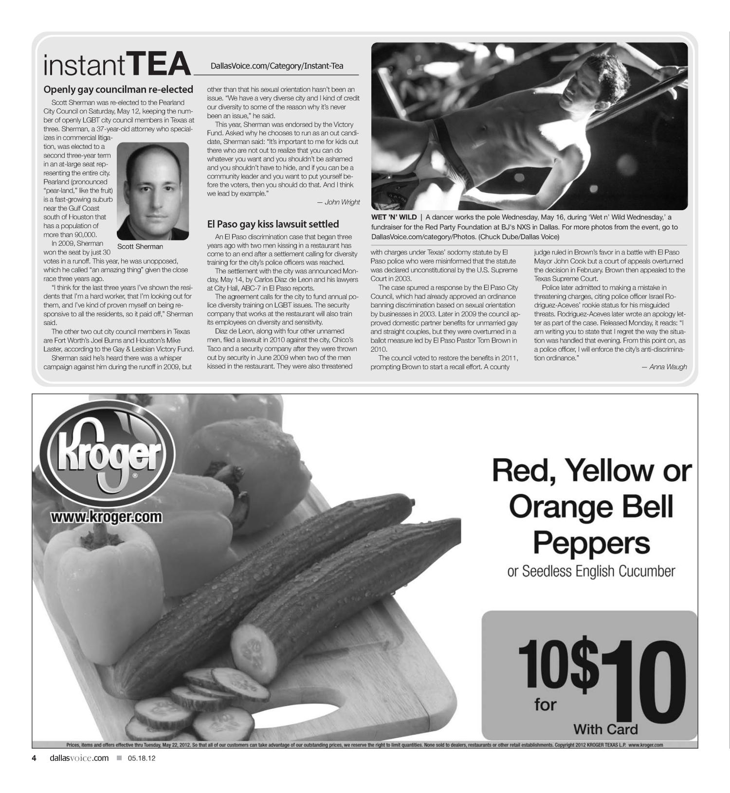 Dallas Voice (Dallas, Tex.), Vol. 29, No. 1, Ed. 1 Friday, May 18, 2012                                                                                                      [Sequence #]: 4 of 40