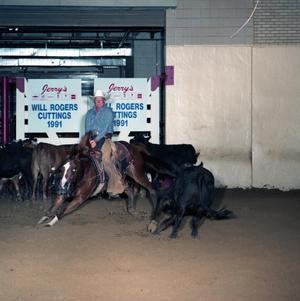 Primary view of object titled 'Cutting Horse Competition: Image 1991_D-10_04'.