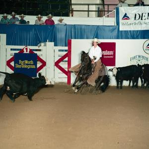 Primary view of object titled '[Cutting Horse Competition: Clarks Benji Lou #5]'.