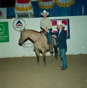 Primary view of object titled 'Cutting Horse Competition: Image 1991_D-140_12'.