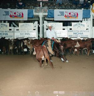 Primary view of object titled '[Cutting Horse Competition: Rey Jays Nina #1]'.