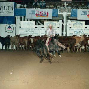 Primary view of object titled '[Cutting Horse Competition: Little Buck Lena #1]'.