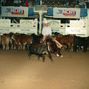 Primary view of object titled '[Cutting Horse Competition: Fox Chena Bar #3]'.