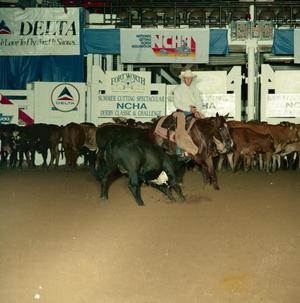 Primary view of object titled '[Cutting Horse Competition: Lil Peppy Fair]'.