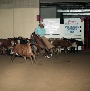 Primary view of object titled 'Cutting Horse Competition: Image 1991_D-19_05'.