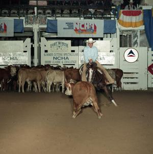 Primary view of object titled 'Cutting Horse Competition: Image 1991_D-200_02'.
