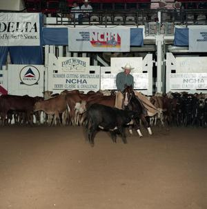 Primary view of object titled 'Cutting Horse Competition: Image 1991_D-203_03'.