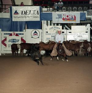 Primary view of object titled 'Cutting Horse Competition: Image 1991_D-204_03'.