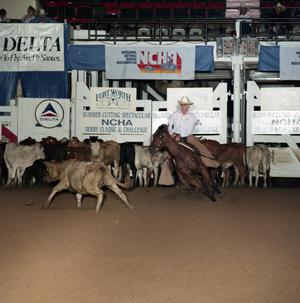 Primary view of object titled 'Cutting Horse Competition: Image 1991_D-207_09'.