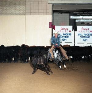 Primary view of object titled 'Cutting Horse Competition: Image 1991_D-25_12'.