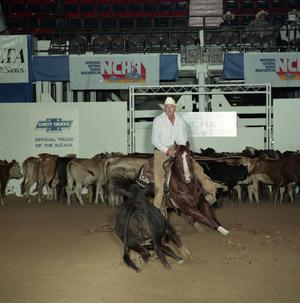 Primary view of object titled 'Cutting Horse Competition: Image 1991_D-36_12'.