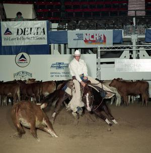 Primary view of object titled 'Cutting Horse Competition: Image 1991_D-37_02'.