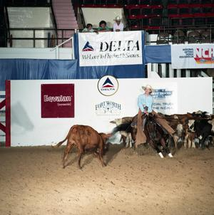 Primary view of object titled 'Cutting Horse Competition: Image 1991_D-37_06'.