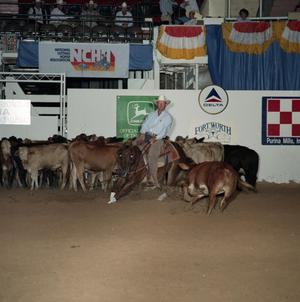 Primary view of object titled 'Cutting Horse Competition: Image 1991_D-37_11'.