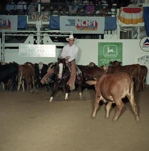 Primary view of object titled 'Cutting Horse Competition: Image 1991_D-45_05'.
