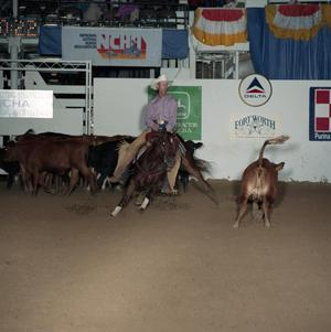 Primary view of object titled 'Cutting Horse Competition: Image 1991_D-46_01'.
