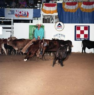 Primary view of object titled 'Cutting Horse Competition: Image 1991_D-46_06'.