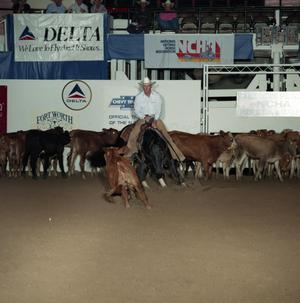 Primary view of object titled 'Cutting Horse Competition: Image 1991_D-53_10'.
