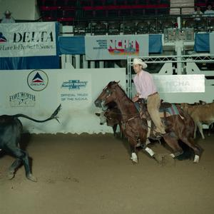 Primary view of object titled 'Cutting Horse Competition: Image 1991_D-68_05'.