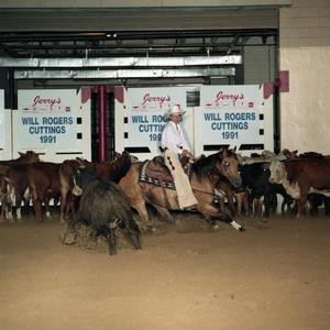 Primary view of object titled 'Cutting Horse Competition: Image 1991_D-6_08'.