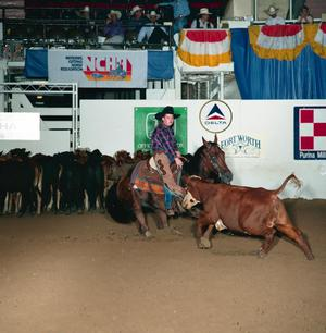 Primary view of object titled 'Cutting Horse Competition: Image 1991_D-70_09'.