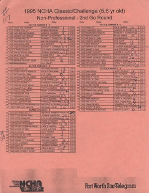 Primary view of object titled 'Cutting Horse Competition Entry List:  1997-derby-r117-118'.