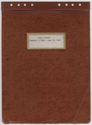 Primary view of object titled '[News Story Log: January 1 to June 30, 1980]'.