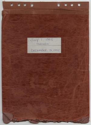 Primary view of object titled '[News Story Log: July 1 to December 31, 1995]'.