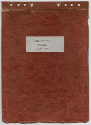 Primary view of object titled '[News Story Log: January 1 to June 30, 1997]'.