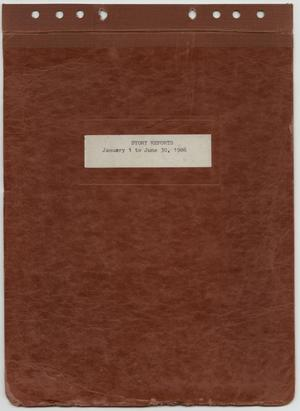 Primary view of object titled '[News Story Log: January 1 to June 30, 1986]'.