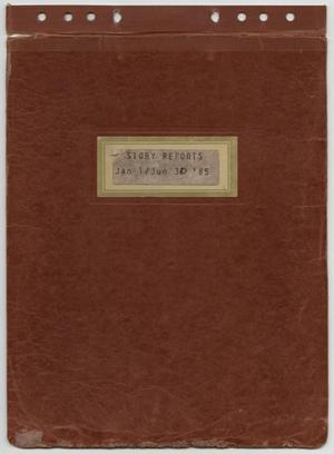 Primary view of object titled '[News Story Log: January 1 to June 30, 1985]'.