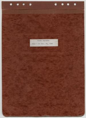 Primary view of object titled '[News Story Log: July 1 to December 31, 1985]'.