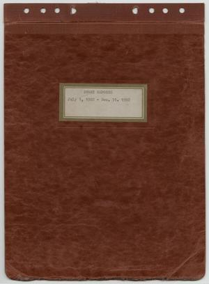 Primary view of object titled '[News Story Log: July 1 to December 31, 1982]'.