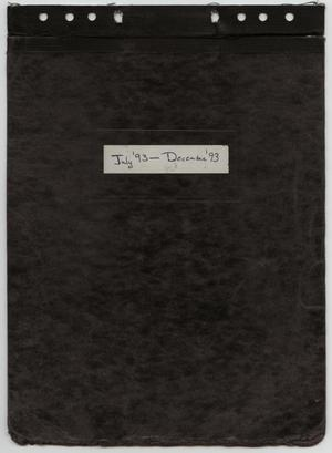 Primary view of object titled '[News Story Log: July 1 to December 31, 1993]'.