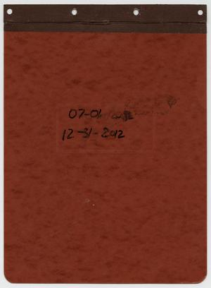 Primary view of object titled '[News Story Log: July 1 to December 31, 2012]'.